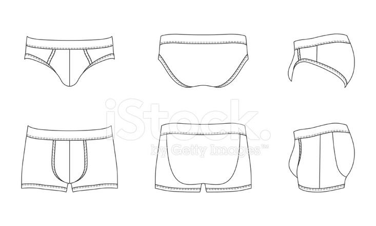 blank men s underwear stock vector freeimages com