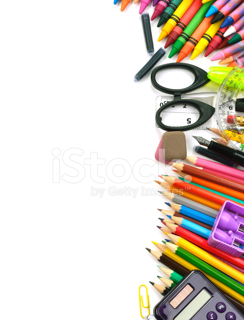school and office supplies frame stock photos freeimagescom
