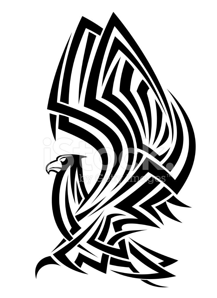 Tribal eagle tattoo stock vector for Tribal eagle tattoos