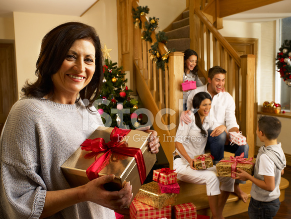 Tradition of exchanging gifts on christmas