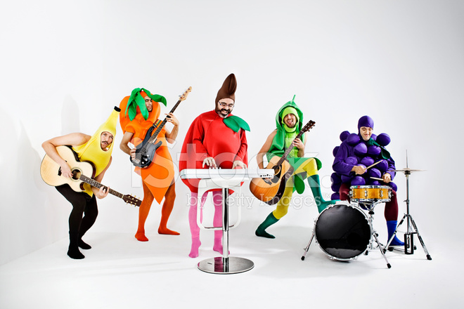 Vegetables rock band stock photos for Trout fishing in america band