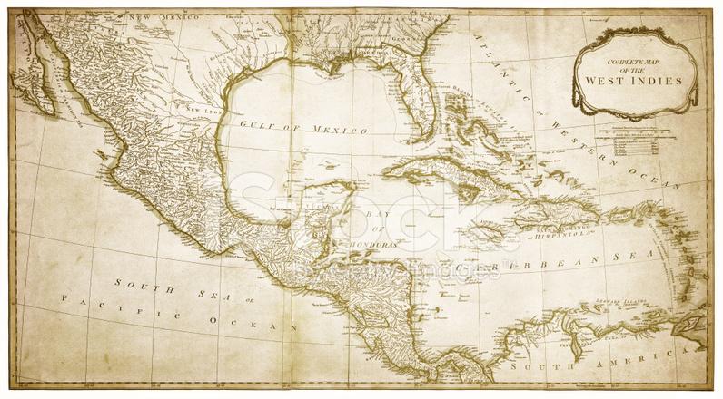West Indies Karte 1794 Stockfotos - FreeImages.com