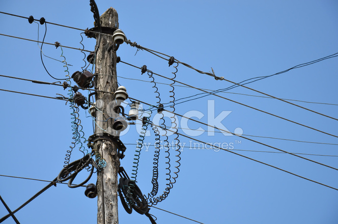 Old Wooden Electric Pole Stock Photos - FreeImages com