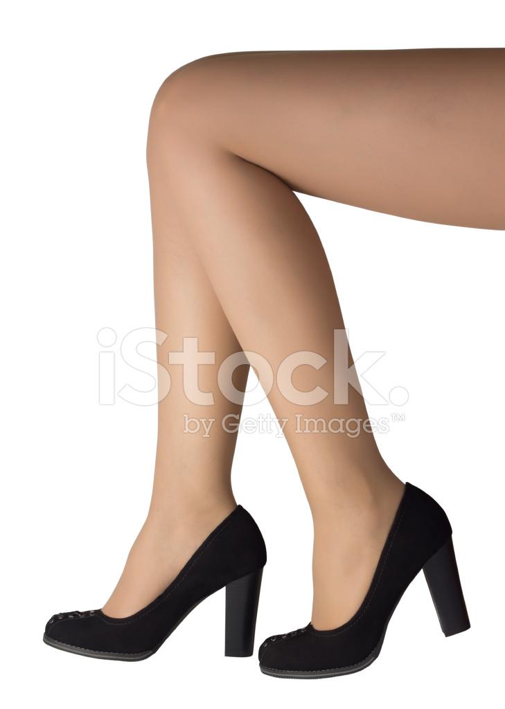 Gambe Stock Womans Closeup Nero Scarpe Con Tacco Alto Fotografie zRwqf6