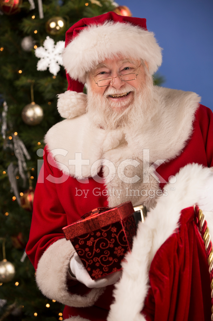 Pictures Of Real Santa Claus Has A Gift Bag Stock Photos