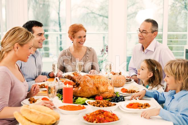 Extended Family Having Thanksgiving Stock Photos Freeimagescom