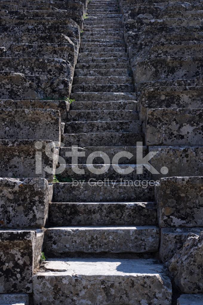 ancient greek theatre steps epidaurus stock photos freeimages com