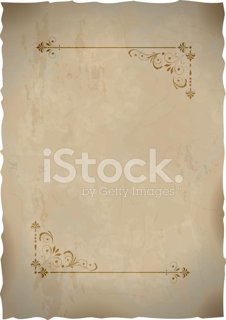 Hoja de papel antiguo con marco vintage para dise o de - Marcos de papel para fotos ...