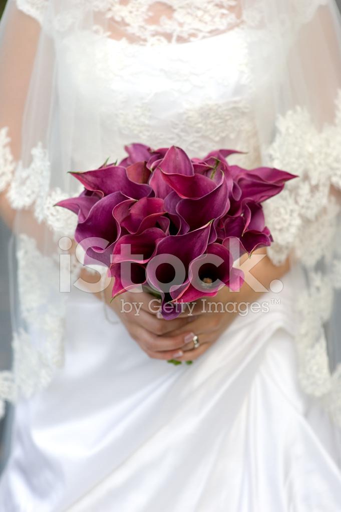 Bouquet Sposa Gigli.Sposa E Bouquet Di Gigli Fotografie Stock Freeimages Com