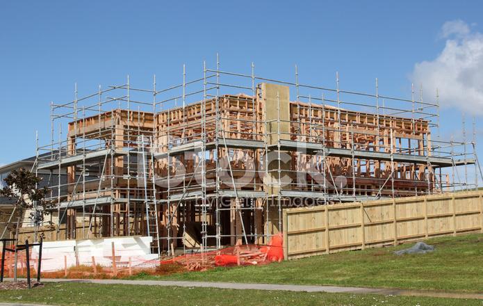 工事中でオークランド ニュージーランドの家 ストックフォト