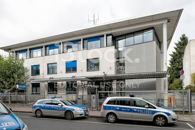 Modern police station frankfurt germany stock photos for Game design frankfurt