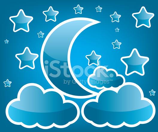 Foto Di Luna E Stelle.Illustrazione Di Luna E Stelle Stock Vector Freeimages Com