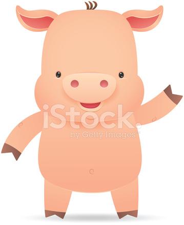 Cute fat cartoon animals