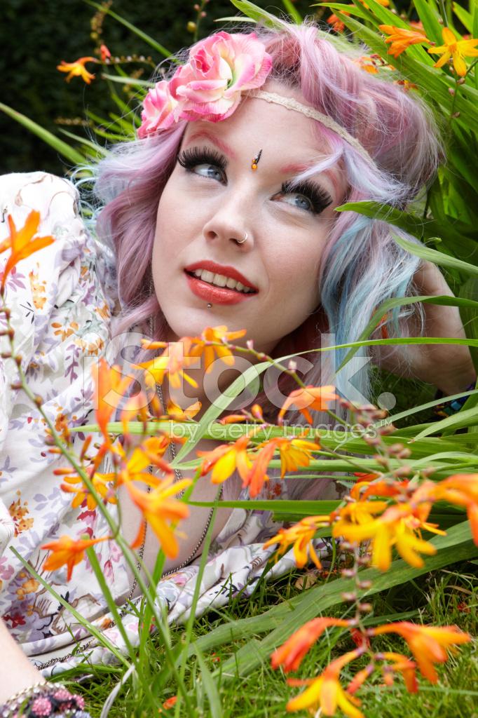 pretty hippie girl stock photos freeimagescom