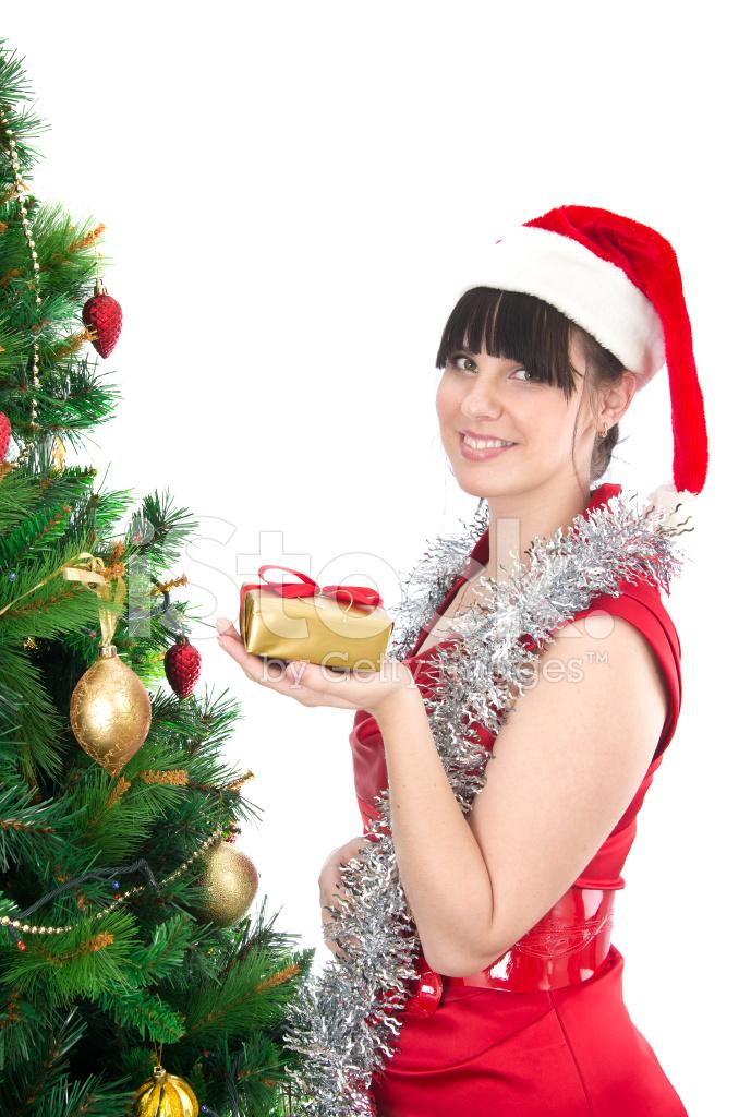 Junge Frau MIT Weihnachtsgeschenk Stockfotos - FreeImages.com