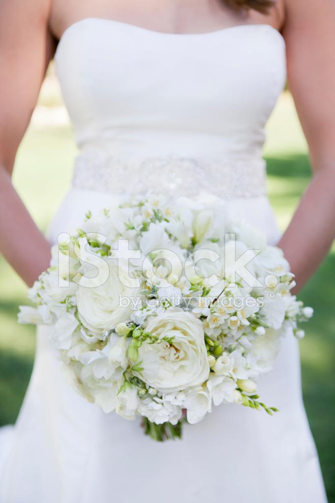 Bouquet Da Sposa Bianco.Bouquet Da Sposa Bianco Giardino Rosa Fotografie Stock