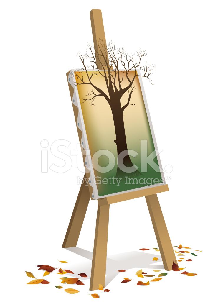 Sonbaharda Bir Ağacın Boyama Stock Vector Freeimagescom