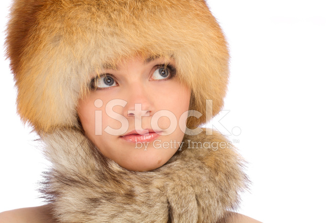 Young Beautiful Girl In Fur Hat Stock Photos Freeimages Com