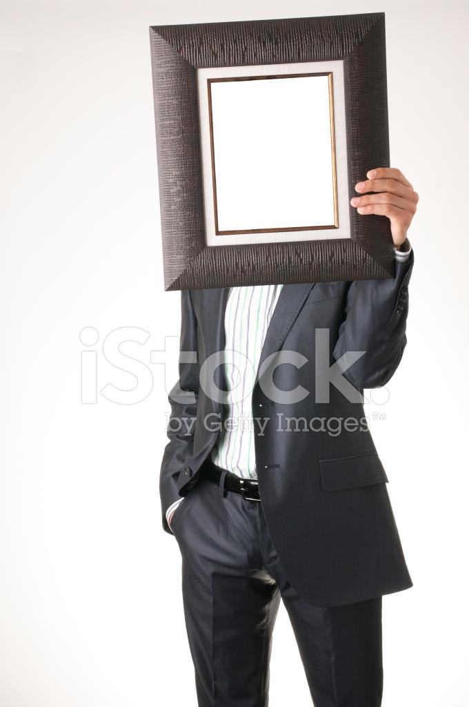 Business Man Hold Frame Stock Photos Freeimagescom