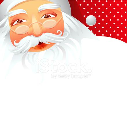 Ilustração De Pai Natal Papai Noel A Sorrir Stock Vector