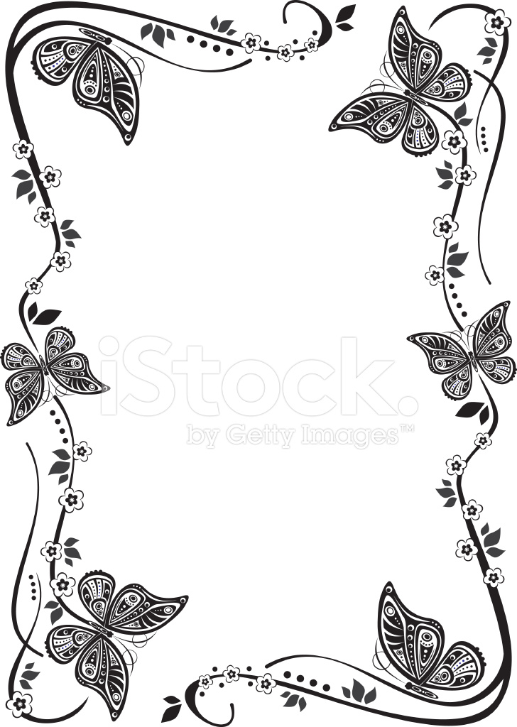 Butterfly Frame Stock Vector - FreeImages.com