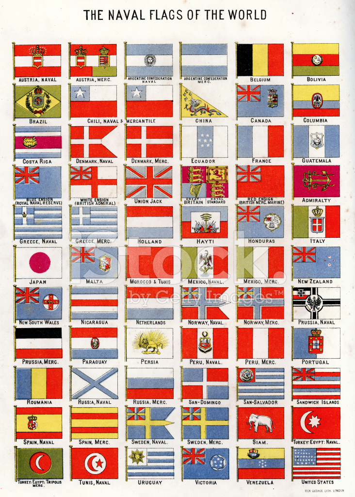 Naval Flags Of The World Stock Vector Freeimages Com