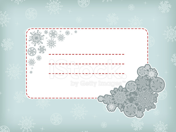 christmas new year template frame with snowflakes