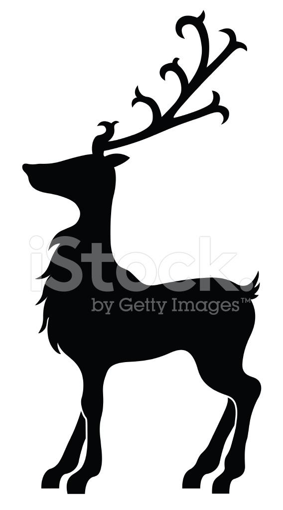 Weihnachten Hirsch Silhouette Stock Vector - FreeImages.com