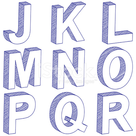 Drawing 3d letter j r