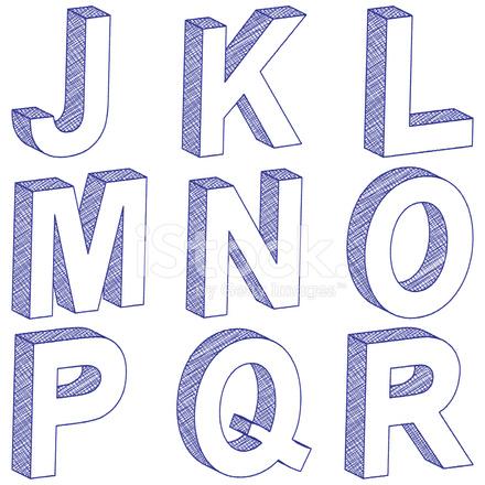 desenho 3d letra j r stock vector freeimages com