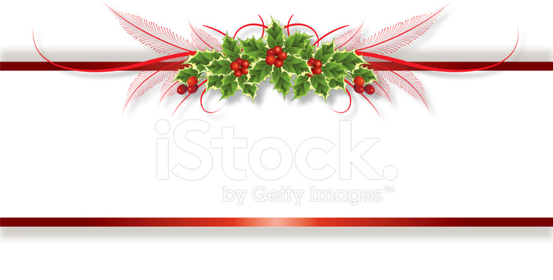 Holly Ribbon Banner Stock Vector FreeImagescom