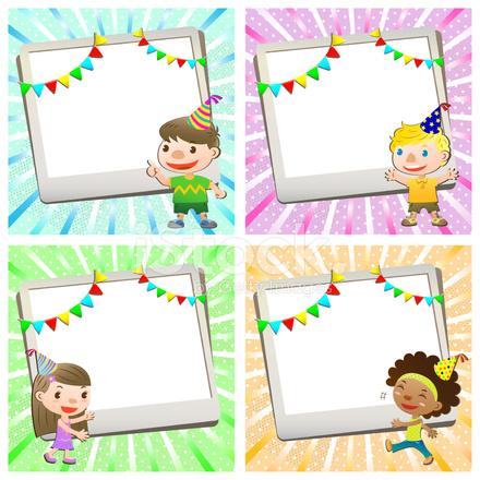 födelsedagskort till barn Födelsedagskort Med Vackra Barn Stock Vector   FreeImages.com födelsedagskort till barn