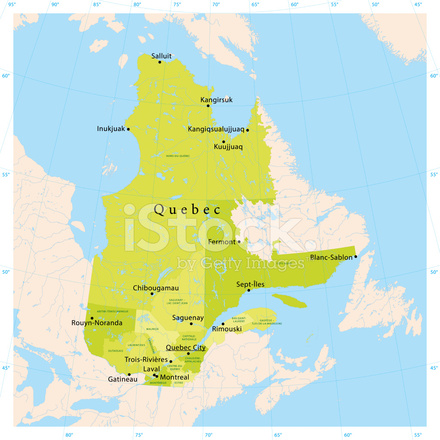 Quebec Vector Map Stock Vector FreeImagescom
