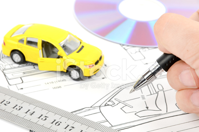 Toy car and blueprint stock photos freeimages premium stock photo of toy car and blueprint malvernweather Image collections