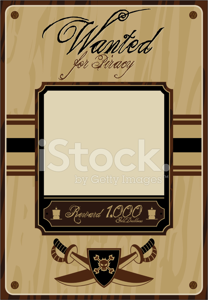 Pirate wanted poster stock vector for Wanted pirate poster template
