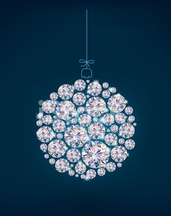 Diamond christmas ball on blue background stock vector diamond christmas ball on blue background aloadofball Images