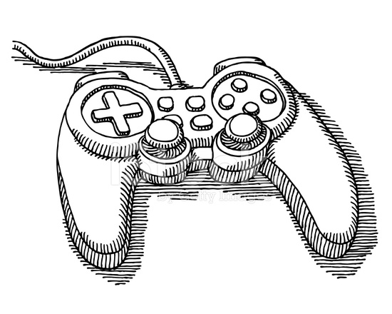D Line Drawing Game : Video game controller drawing stock vector freeimages