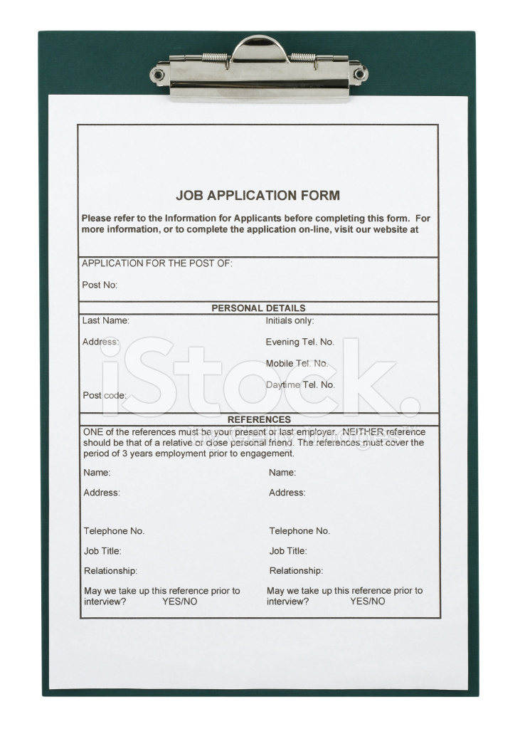 Job Application Form Stock Photos Freeimages