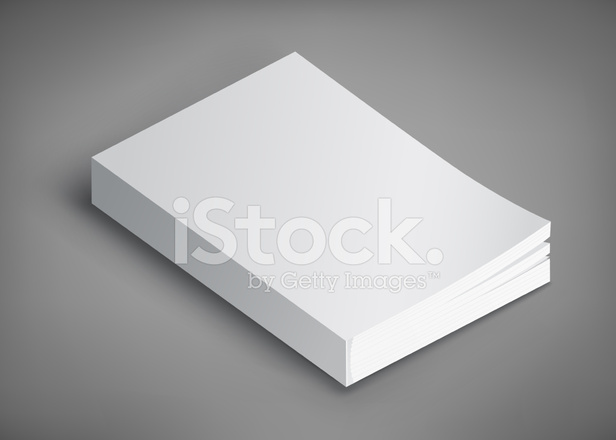 Blank Book Template for Your Stock Vector - FreeImages.com
