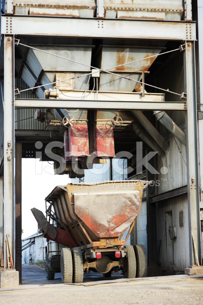 Grain Silo Truck Loading Station Stock Photos Freeimages Com