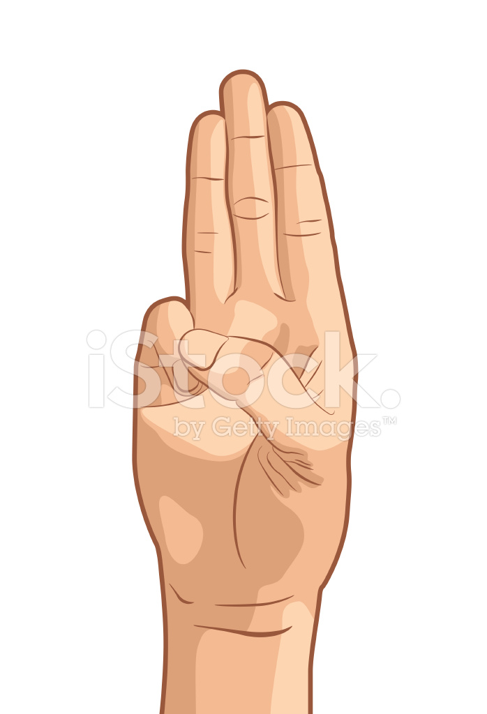 Oath Hand Gesture Stock Vector Freeimages