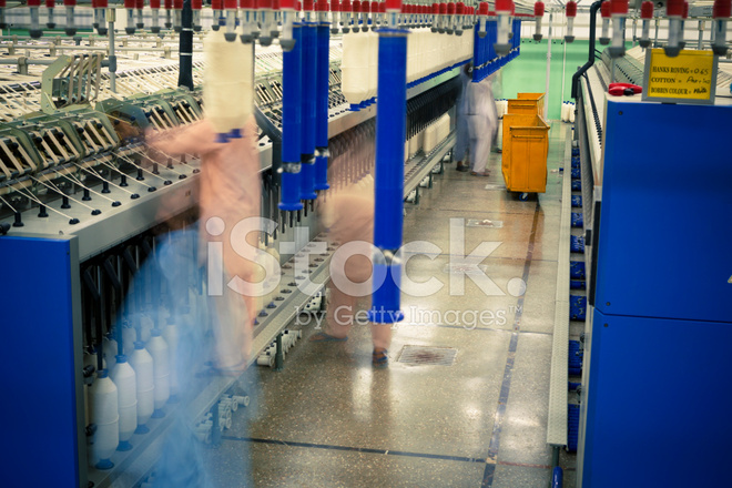 Textile Industry Spinning, Auto Conner Yarn Production Stock Photos
