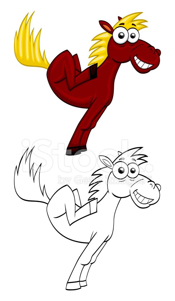 Cavallo divertente cartone animato fotografie stock