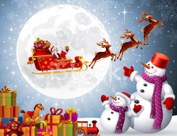 santa claus giving presents - Santa Claus With Presents