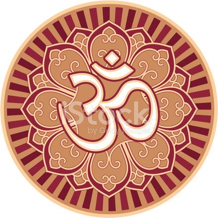 Om Symbol In Lotus Rosette Stock Vector Freeimages