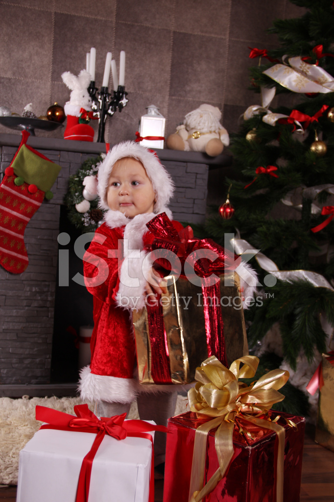 Kid Santa and Christmas gifts  sc 1 st  FreeImages.com & Kid Santa and Christmas Gifts Stock Photos - FreeImages.com