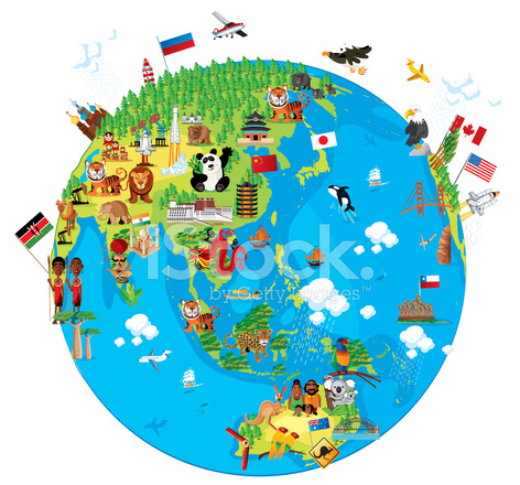 Cartoon map of world asia stock vector freeimages cartoon map of world asia gumiabroncs Choice Image