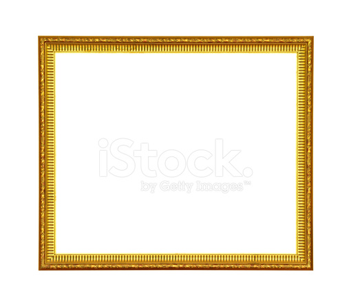 Vintage Gold Picture Frame Isolated Stock Photos Freeimagescom