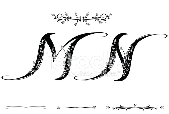 letter m and n stock vector. Black Bedroom Furniture Sets. Home Design Ideas