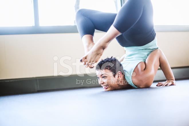 d59fa1688d97a Scorpion Pose Yoga Woman Stock Photos - FreeImages.com